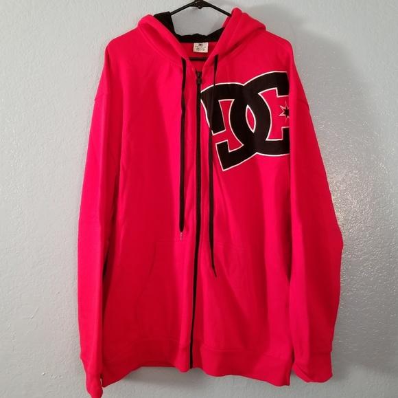 a2b583caeb8d DC Other - DC men s red zip up hoodie size XXL black DC